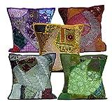 5Pcs-100Pcs Amazing India Multi Applique Embroidery Vintage Patchwork Cushion Covers Wholesale Lot