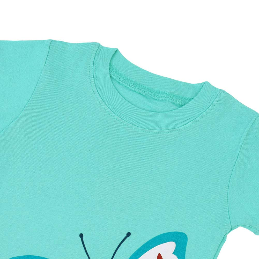 Digirlsor Toddler Kids Girls Pajamas Shorts Sets 2 Piece Summer Cotton Short Sleepwear Casual Homewear,2-7 Years