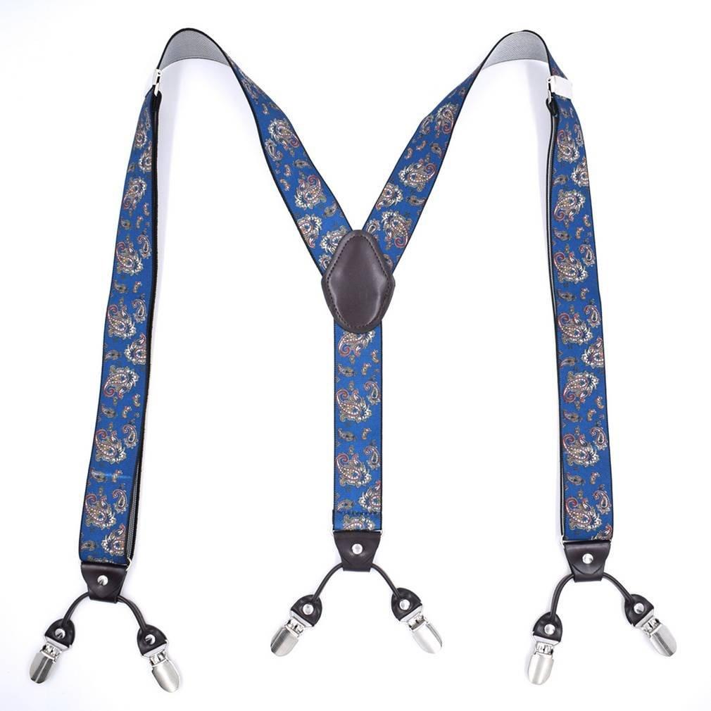 COMVIP Mens Y-shape 6 Clips Adjustable Braces Pant Dress Suspenders