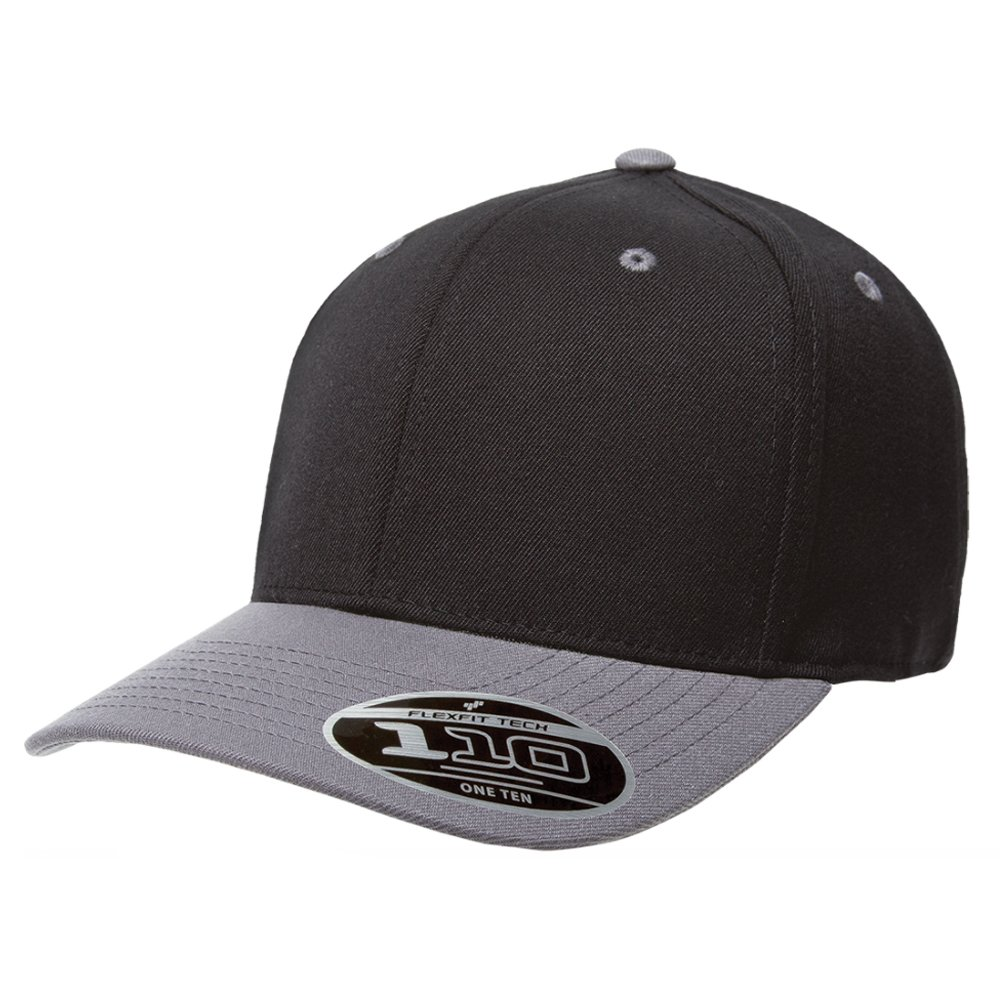 eafb4b6cf4aad8 2040USA Flexfit Premium Original Blank One Ten (110CT) Adjustable  Pro-formance Two Tone Baseball Cap (Black/Grey) at Amazon Men's Clothing  store: