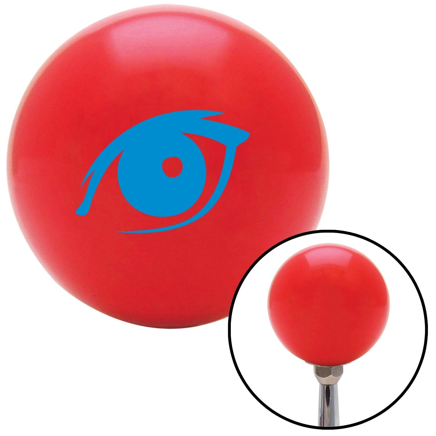 Blue One Eye American Shifter 95052 Red Shift Knob with M16 x 1.5 Insert