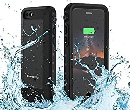 PowerBear Waterproof iPhone 6 PLUS Battery Case [4,300 mAh] iPhone 6 Plus & iPhone 6S Plus High Capacity Water Proof Power Charger Case (Up to 1.5X Extra Battery) Black [24 Month Warranty]