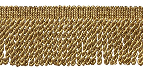 DecoPro 10 Yard Value Pack of Two Tone Gold 2.5 Inch Bullion Fringe Trim, Style# EF25 Color: 8534 (30 Ft / 9.1 Meters)