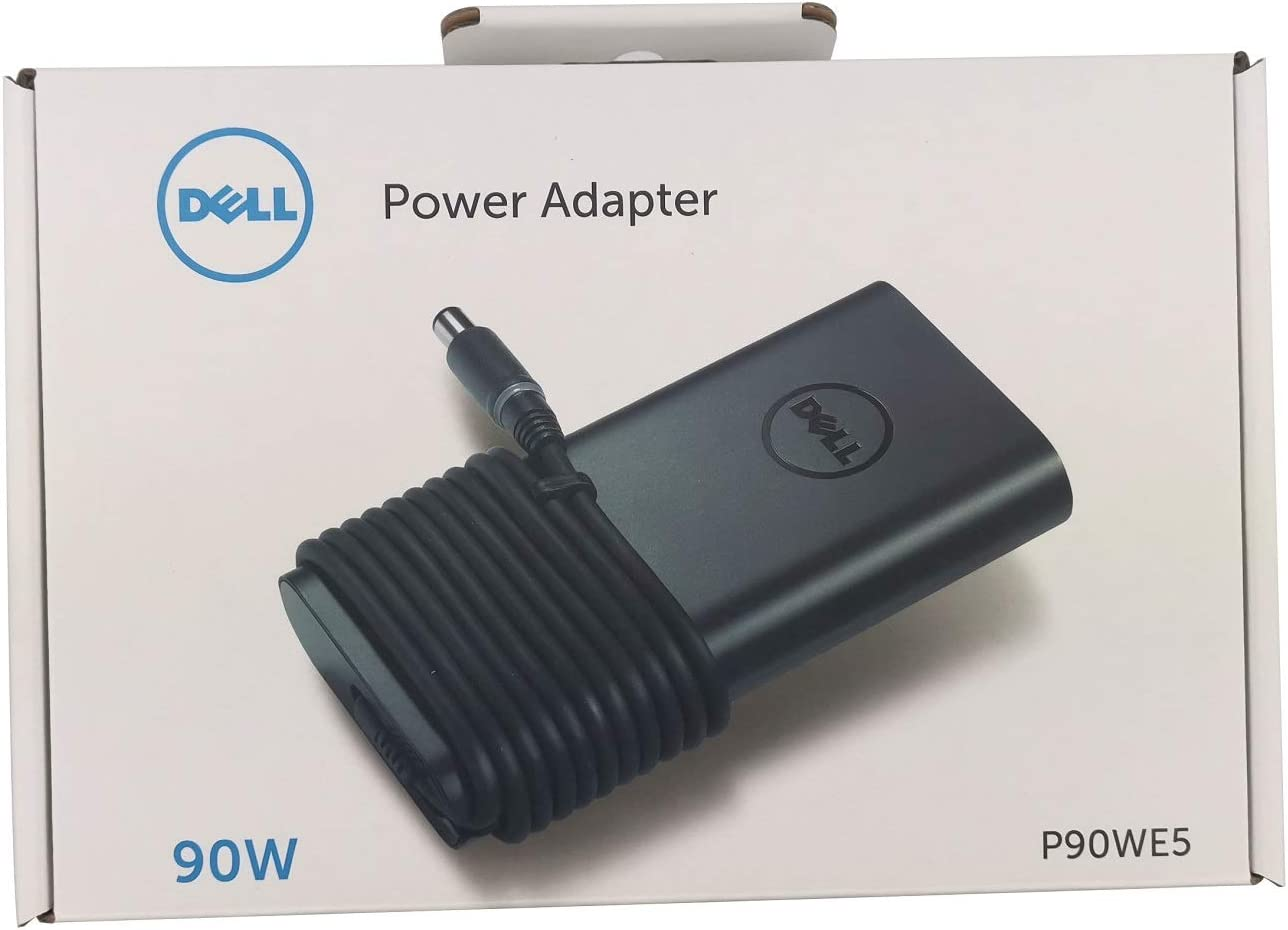 Dell Laptop Charger 90W watt AC Power Adapter Include Power Cord and 7.4mm to 4.5mm DC Power Dongle for Dell Latitude Inspiron Vostro XPS Computer