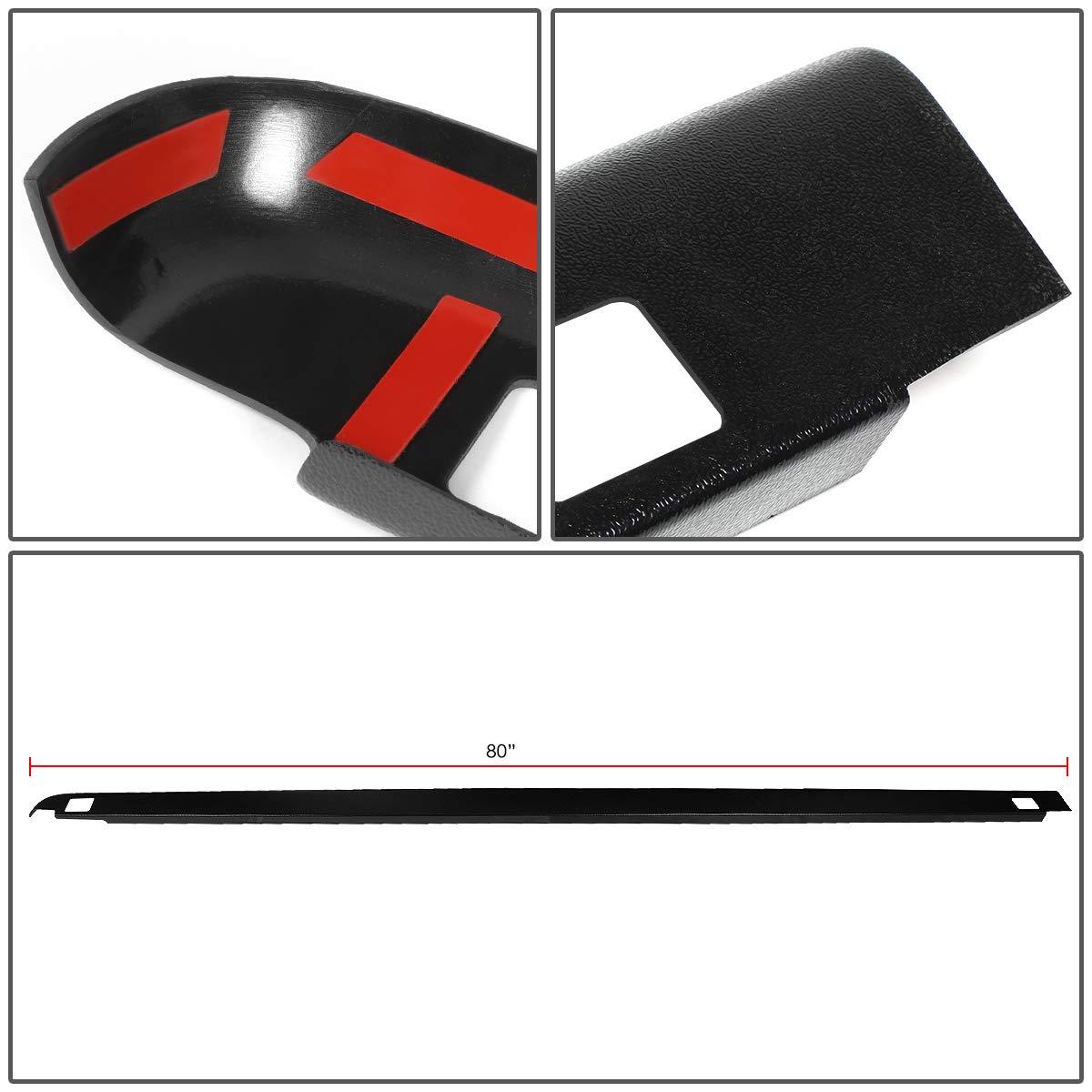 For 02-09 Ram Truck 1500//2500//3500 6.5Ft Fleetside Short Bed Pair Side Rail Molding Caps w//Holes