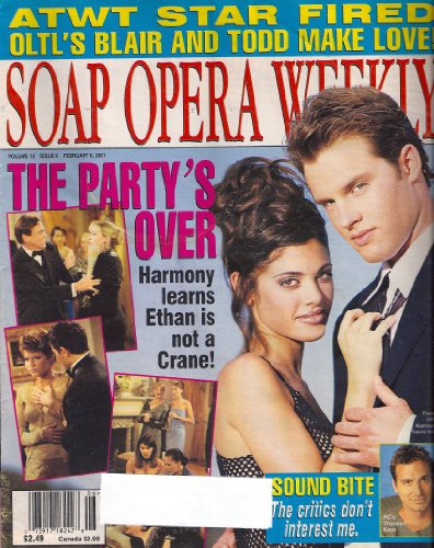 Lindsay [Korman] Hartley and Travis Schuldt, Passions - February 6, 2001 Soap Opera Weekly Magazine