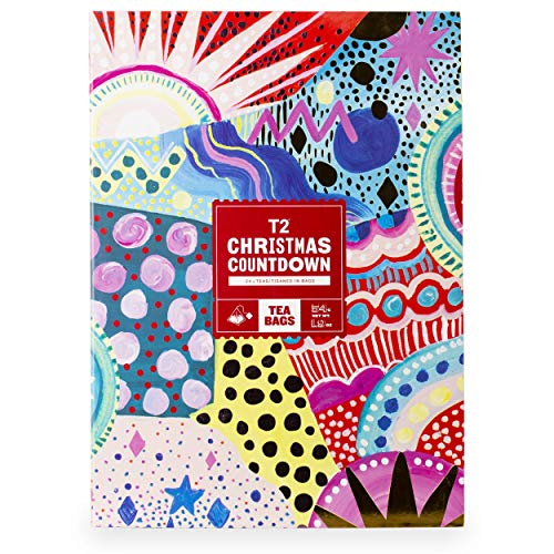 T2 Tea - Tea Bags Advent Calendar for Christmas 2019, 24 Tea Tisanes ( French Earl Grey, Chai, Melbourne Breakfast & More...), 24Count (Melbourne In Christmas 2019)