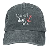 Funny Boat Hair Don't Care Adult Unisex Baseball Hat