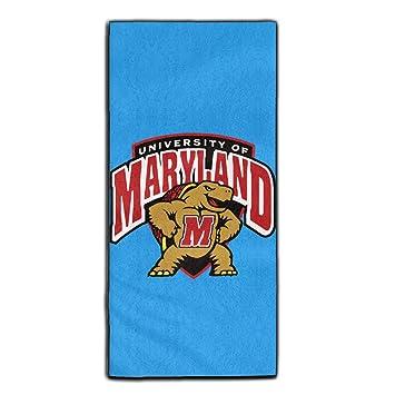 Maryland Terrapins equipo de fútbol tortuga mascota poliéster terciopelo toallas de baño de toallas de cara 3070 cm: Amazon.es: Hogar