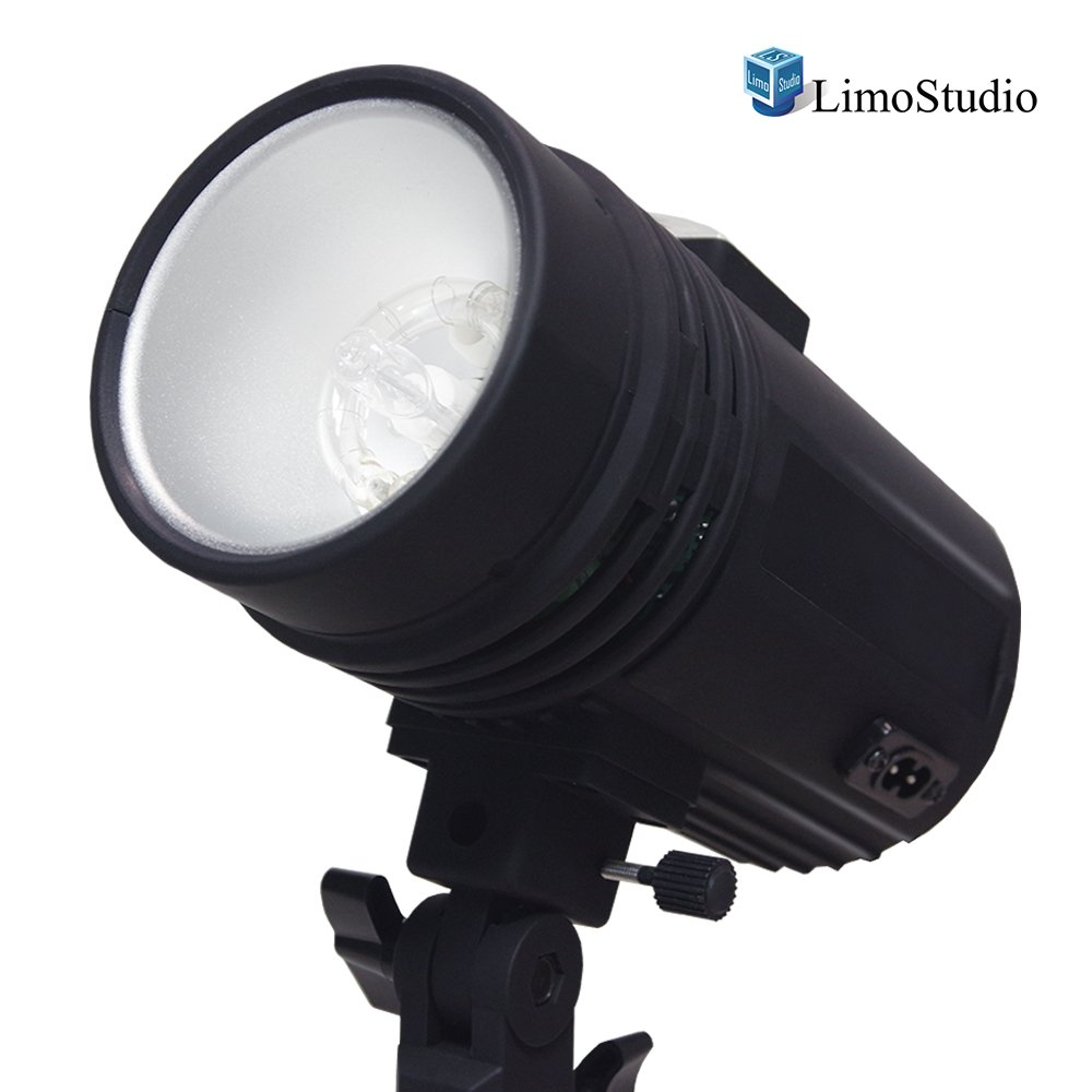 200 Watt Studio Flash/Strobe Light, Fuse, Test Button, Wireless Triggering Available, Umbrella Input, Mount on Light Stand, Professional Photography Use, Photo Studio, AGG2044 by LimoStudio (Image #1)