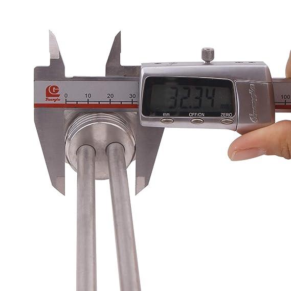 Aiicioo 220-240v 4500w Elemento calentador de Agua Acero Inoxidable de Grado Alimentario Calentador de Agua 1