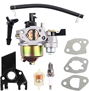 Dxent GX160 Carburetor for Honda GX168F 5.5HP GX200 6.5 HP Engine WP30X EG1400 EZ2500 Generator 16100-ZH8-W61 16100-ZLO-W51 Carb with Choke Lever Intake Manifold Fuel Filter Parts Kit