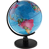 MagiDeal Spinning Interactive World Globe Kids Student Educational Learning Toys Kits - Blue, 25cm