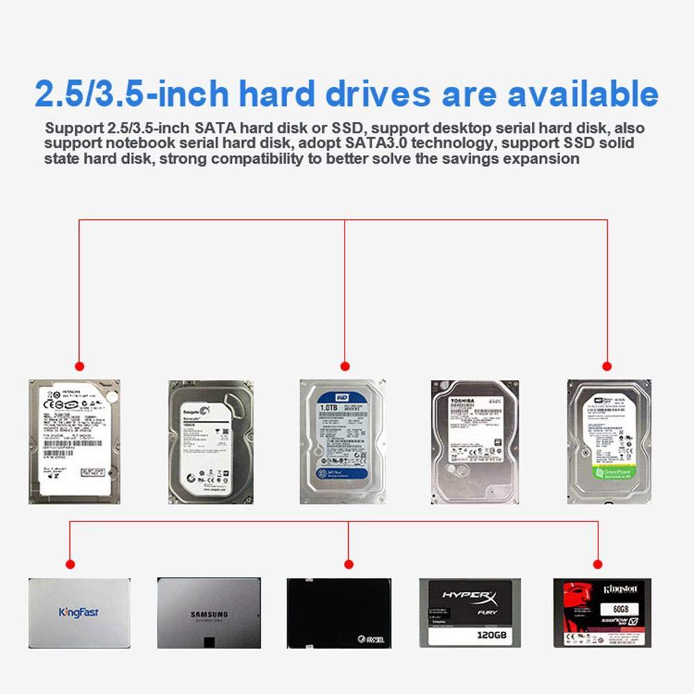 Leap-G - Caja de Disco Duro USB 3.0 para Disco Duro Externo de 2,5 ...