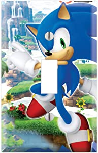 Single Toggle Wall Switch Cover Plate Decor Wallplate - Sonic Generations The Hedgehog