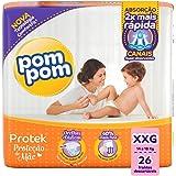 Fralda PomPom Protek Proteção de Mãe, XXG, Mega, pacote de 26 - Embalagem Pode Variar