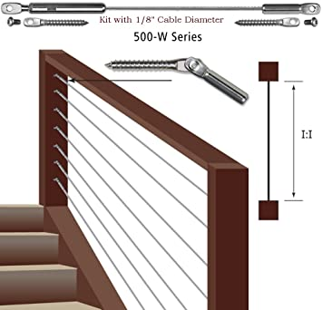 cable railing kit menards indoor for stairs series ultra kits wood posts