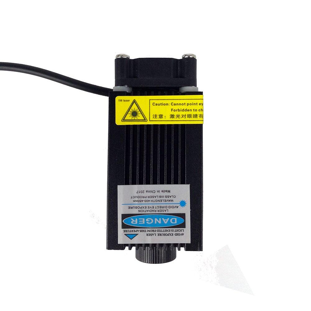 KREATEIT Kr-10 - Módulo láser de 500 mW, 405 nm, color azul, 24 V ...