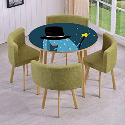 iPrint Round Table/Wall/Floor Decal Strikers/Removable/Rabbit with Black Hat & Amazon.com: iPrint Round Table/Wall/Floor Decal Strikers/Removable ...