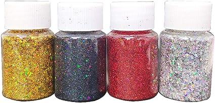 Moldes de resina de pigmento de 4 colores de mica, polvo de ...