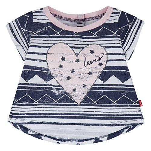 Levi's Baby Girls' High-Low Hem Graphic T-Shirt, Navy Blue Iris, 6-9 Months