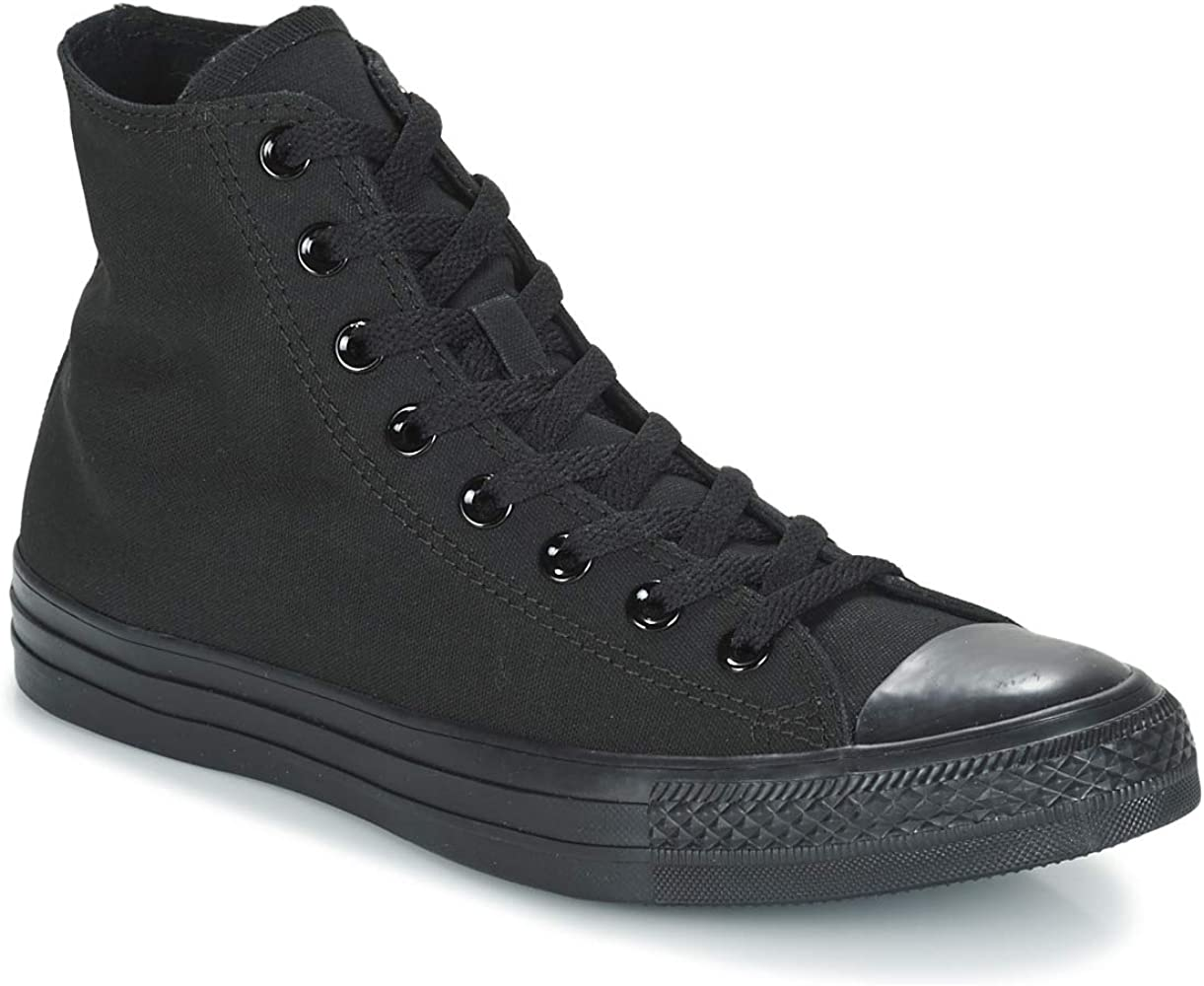 mecanismo montaje Cabra  Amazon.com | Converse Chuck Taylor All Star Mono Hi Trainers Men Black -  3.5 - High Top Trainers Shoes | Fashion Sneakers