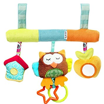 TOYMYTOY Infant Baby Plush Adorable Animal Rattle Stroller Car Seat ...