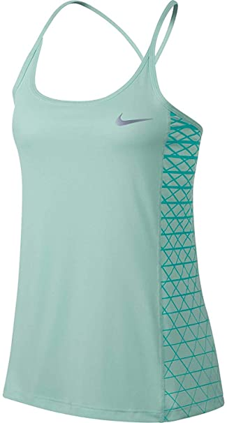 34fc0dc461236 Amazon.com: Nike Women's Dry Miler Graphic Running Tank Top (Igloo ...