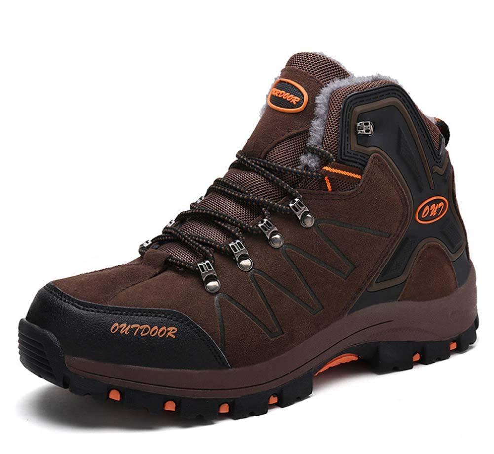GLSHI Chaussures De Randonnée pour Hommes Automne Hiver Outdoor Baskets Montantes Chaussures De Marche Décontractées