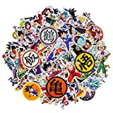 200 PCS Dragon Ball Z Stickers, Waterproof Anime Stickers for Water Bottle Removable Cool Vinyl Decals for Car Laptop Luggage MacBook Skateboard Stickers