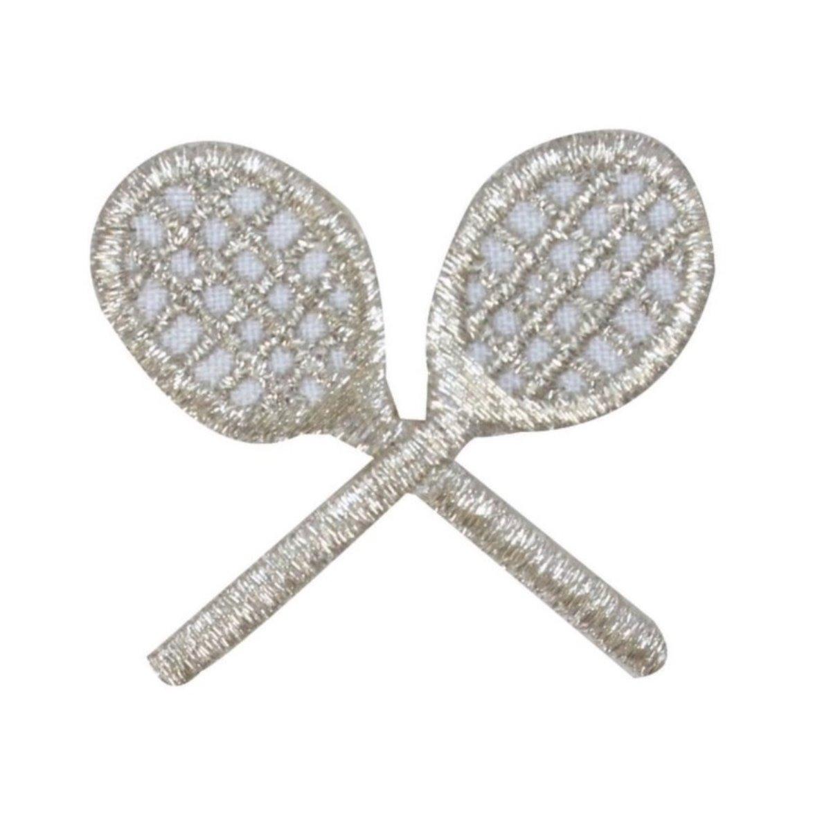 2 Silver Metal Tennis Racket Sports Card Making Scrapbook Craft Embellishments