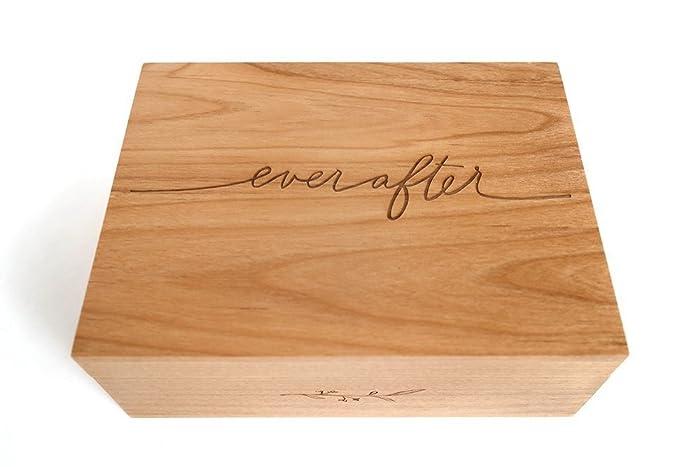 Ever After Laser Cut Wood Keepsake Box Wedding Gift 5th Anniversary Heirloom