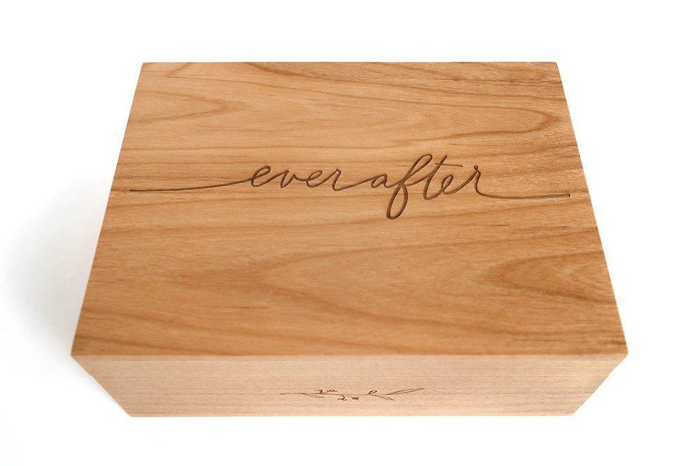 Ever After Laser Cut Wood Keepsake Box (Wedding Gift / 5th Anniversary / Heirloom / Decorative / Handmade) by Cardtorial