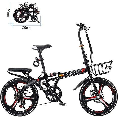 ZEIYUQI Bicicletas Freno De Disco Doble 20 Pulgadas Plegable ...