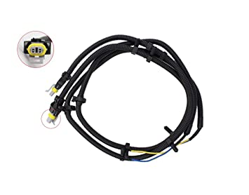 Amazon.com: 2 Pcs of ABS Wheel Sd Sensor Wire Harness Pigtail ... on chevy 1500 wireing harness color codes, chevy wiring horn, chevy speaker harness, chevy abs unit, chevy radiator cap, chevy speaker wiring, chevy clutch assembly, chevy power socket, chevy fan motor, chevy wiring connectors, chevy warning sticker, chevy front fender, chevy battery terminal, chevy crossmember, chevy alternator harness, chevy wheel cylinders, chevy relay switch, chevy clutch line, chevy rear diff, chevy wiring schematics,