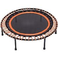 Tuin trampoline, fitness trampoline, geschikt voor gezinnen, kantoor, fitnessruimte en tuin,Black orange