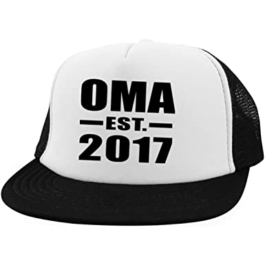 Amazon.com  Oma Established EST. 2017 - Trucker Hat Golf Baseball ... f0f3f964bc4