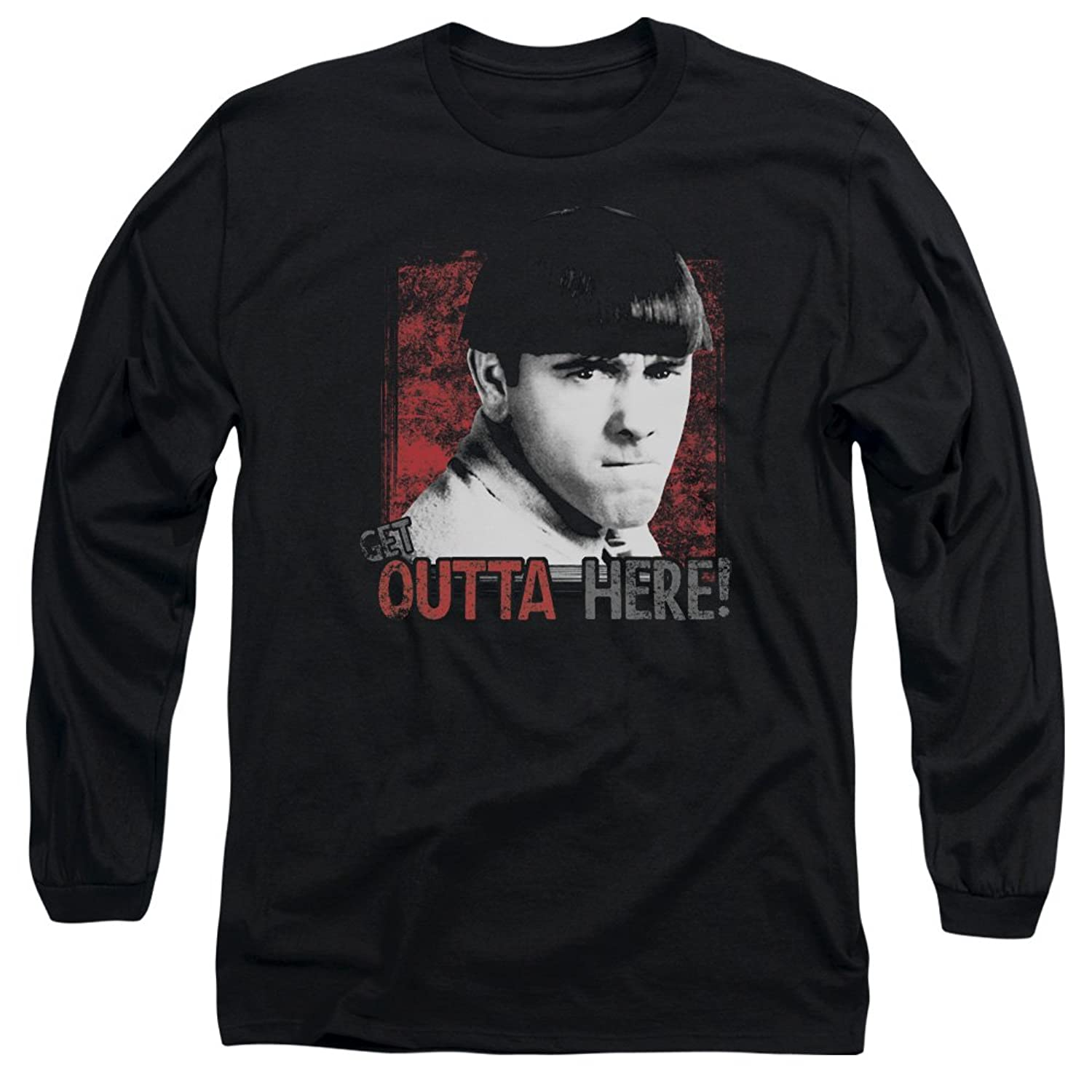 Three Stooges - Mens Get Outta Here Long Sleeve T-Shirt
