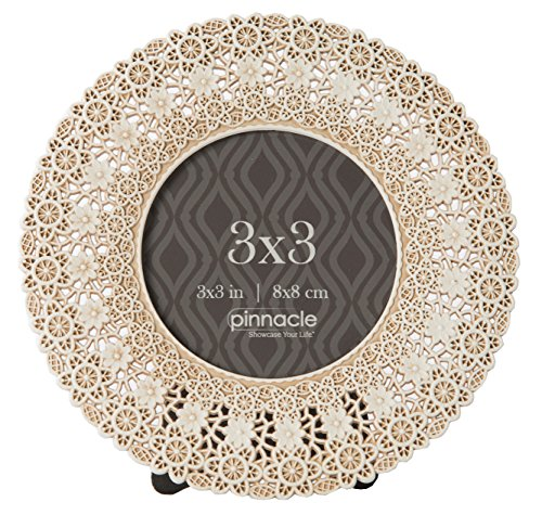 Pinnacle Frames and Accents 3X3 Antique Circle W/Lace Design