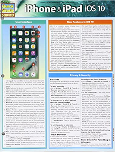 Iphone & Ipad Ios 10: Quickstudy Laminated Reference Guide: Jennifer
