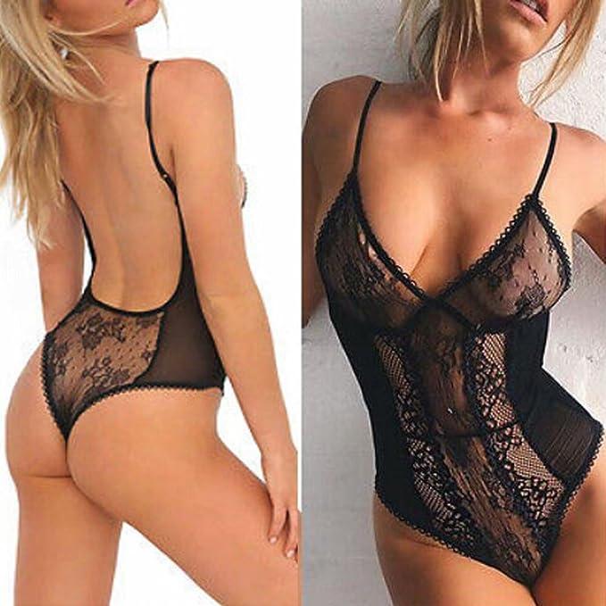 Amazon.com: ltrotted mujeres lencería mujer Sexy Body de ...