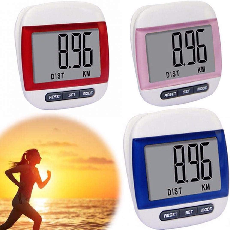 Marcher Podom/ètre avec Clip pr/écis Pas /à Pas Grand Marche LCD Distance Miles Compteur de Calories Daily Monitor Cible avec Batterie Bouton