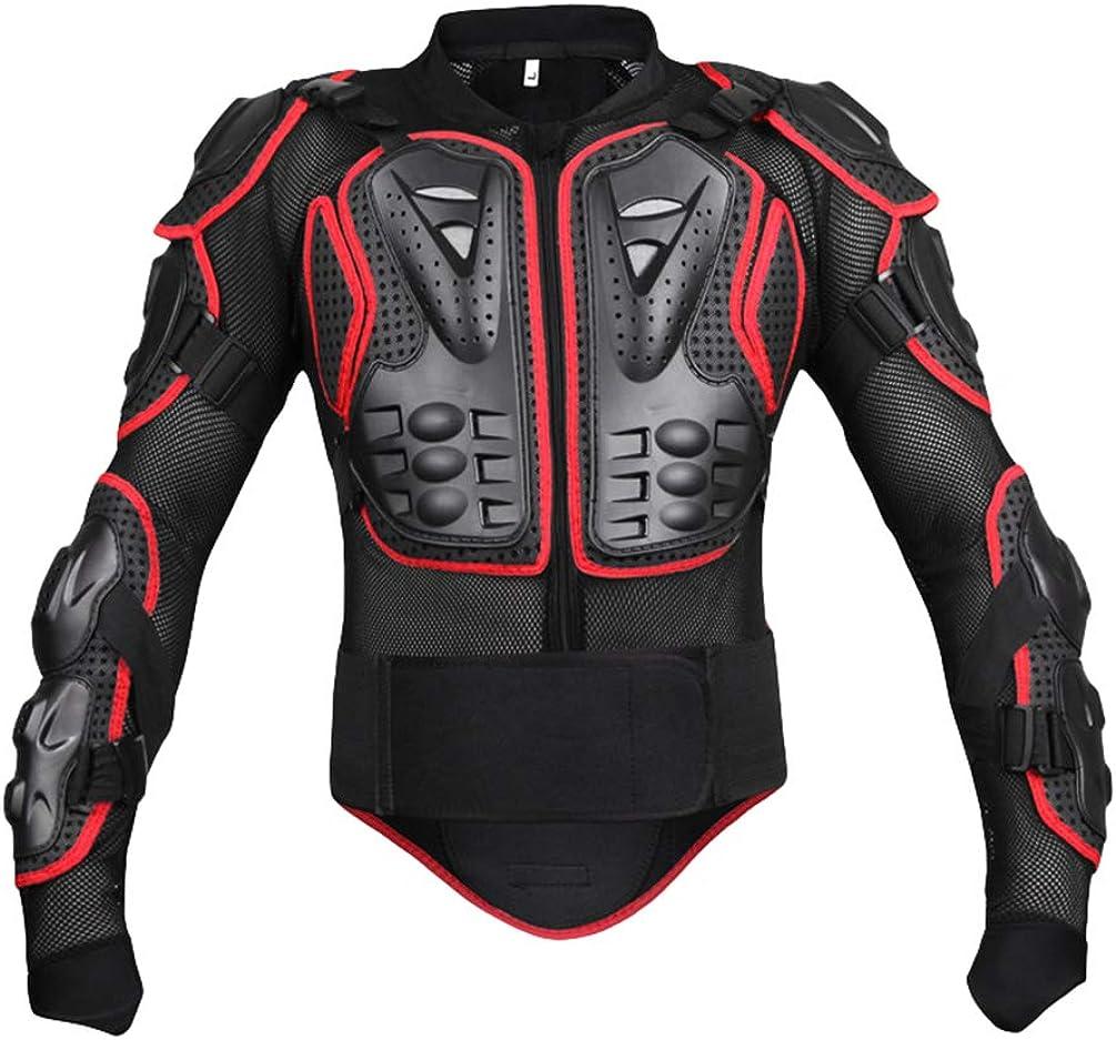 Yuanu Moto Armure Gilet de Protection Pare Pierre Moto Cyclisme Patinage Snowboarding Plastron avec Protection de la Poitrine et Dos