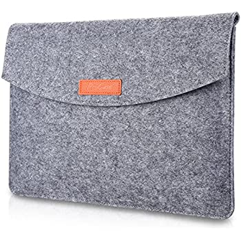 """ProCase 9.7 - 10.1 Inch Sleeve Case, Portable Felt Carrying Protective Bag Pouch for iPad Pro 10.5 In, iPad Pro 9.7"""" iPad Air 2 / Air / iPad 4, 3, 2 and Samsung Galaxy Tab S2 S3 9.7 Inch Tablet -Grey"""