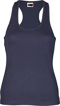 Emilio Fernández Camiseta Tirante Espalda NADADORA 100% ALGODÓN Azul Marino: Amazon.es: Ropa y accesorios