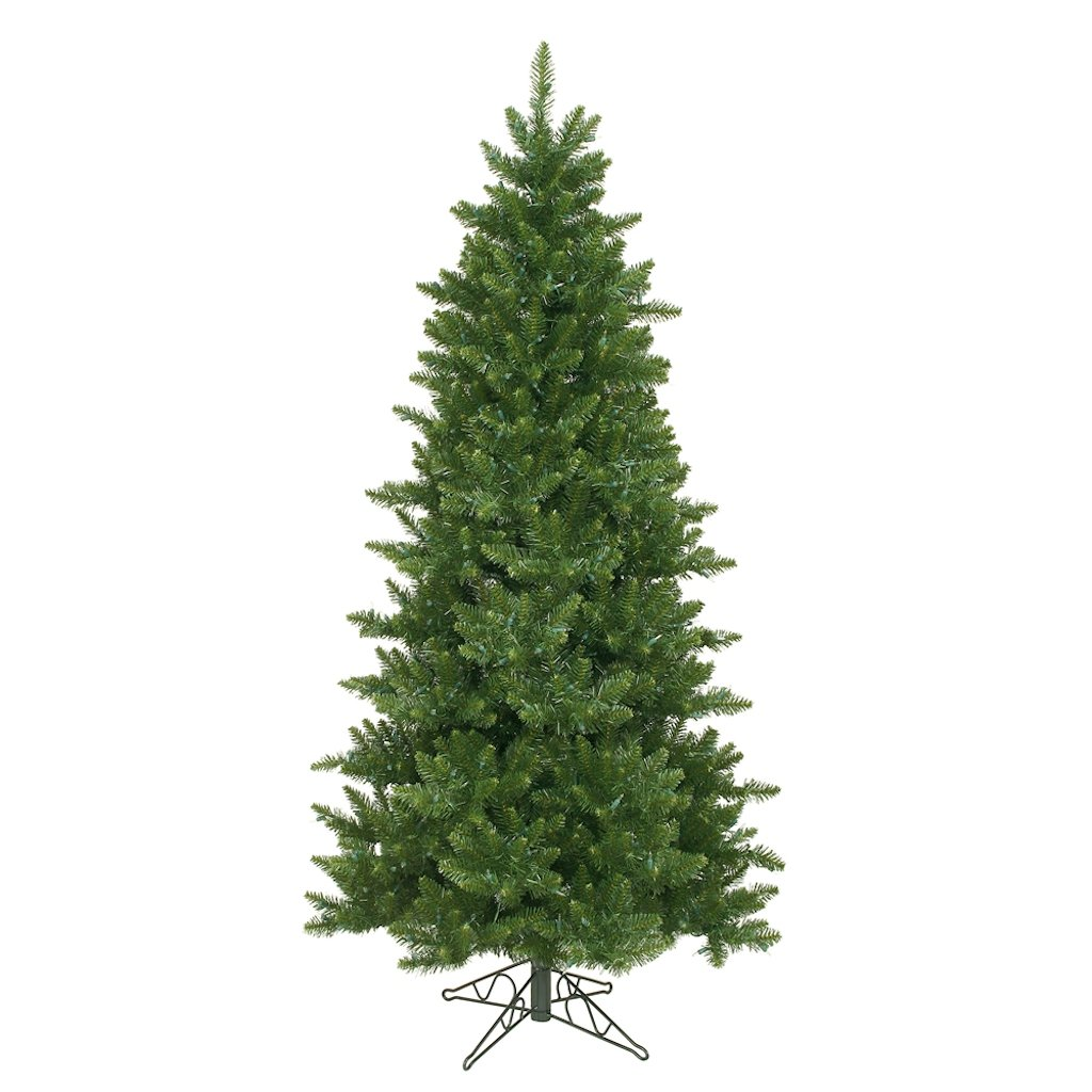 Amazon.com: Vickerman Camdon Fir Green Christmas Tree with, 6.5-Feet ...