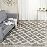 """Safavieh SGD258G-28 Dallas Shag Collection and Ivory Runner, 2'3"""" x 8', Grey"""