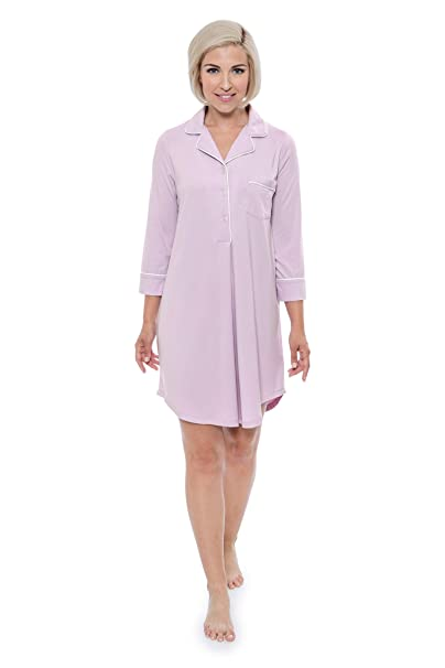 d9883615d9 Texere Women s Bamboo Sleep Shirt - Luxury Sleepwear Nightshirt for ...