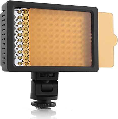 amzdeal® Luz de vídeo, 126LED Aputure Foco, Panel Digital cámara ...