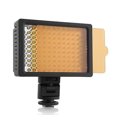 amzdeal® Luz de vídeo, 126LED Aputure Foco, Panel Digital cámara ...